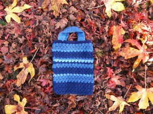 Blauw gehaakt tasje