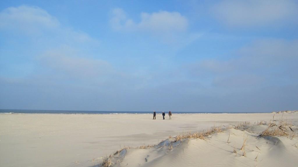 Brede strand van Schiermonnikoog