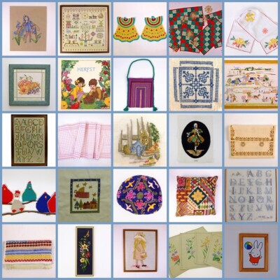 Collage handwerken in Tweedehandswerk shop