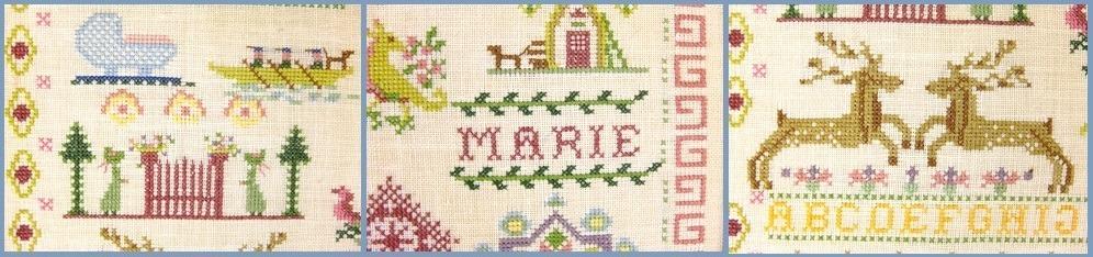 Detail merklap Marie 1926