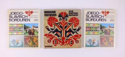 Drie boeken Joegoslavisch borduren