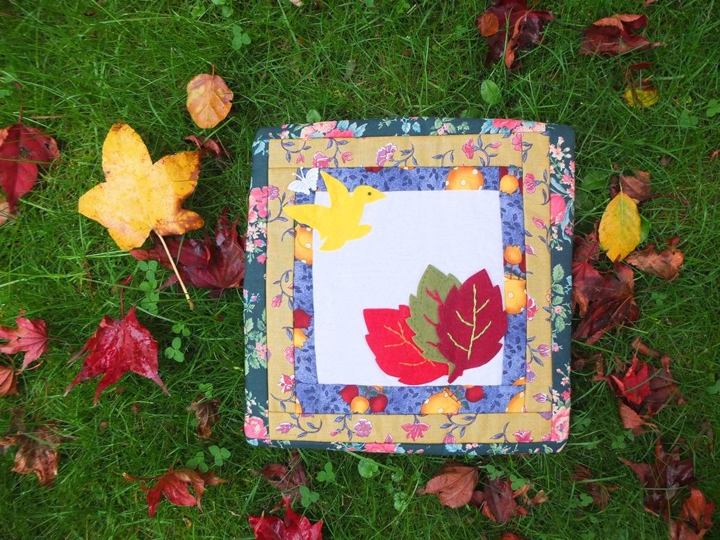 Herfst patchwork onderzetter