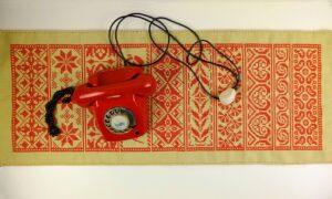 Rand per week met rode telefoon