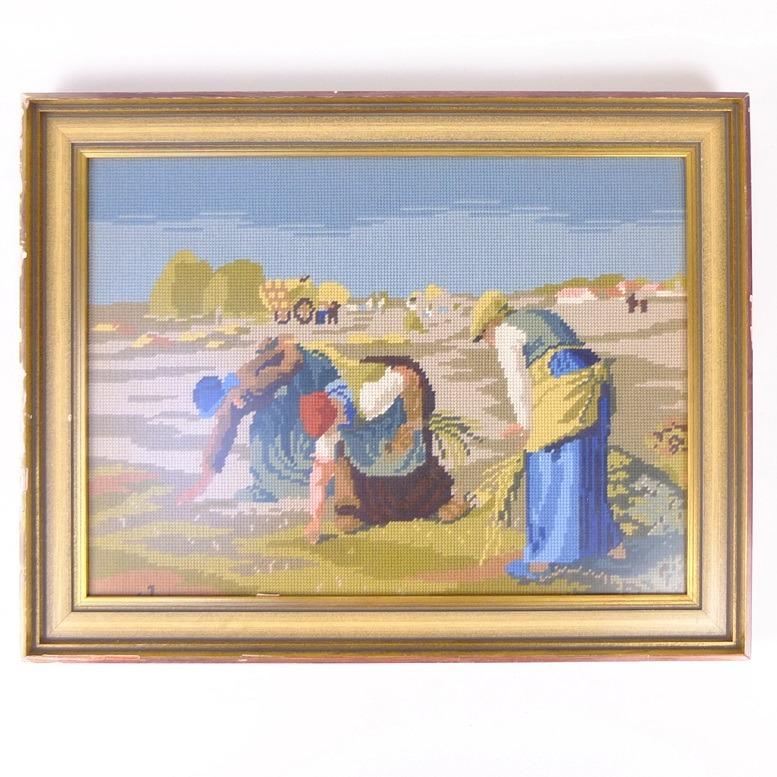 Tapisserie schilderij Arenleesters van Millet