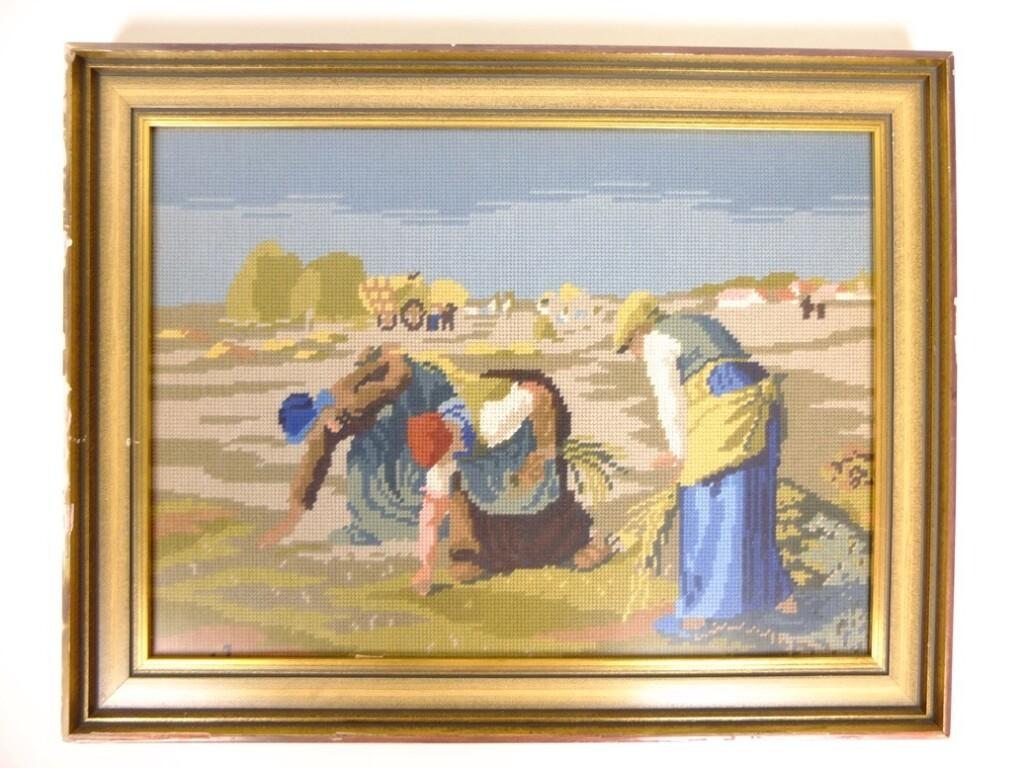 Tapisserieschilderij de Arenleesters van Millet