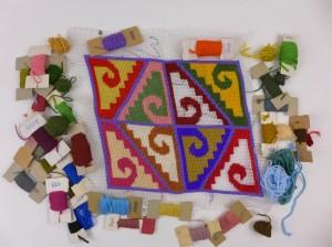 Borduurwerk felle kleuren