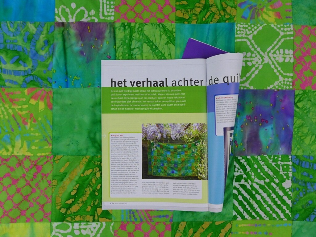 Fairtrade-quilt in Quiltnieuws