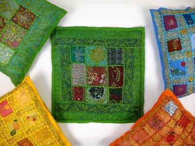 Groen kussen uit Nepal