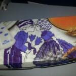 KLM ontbijtdoosje met borduurwerk