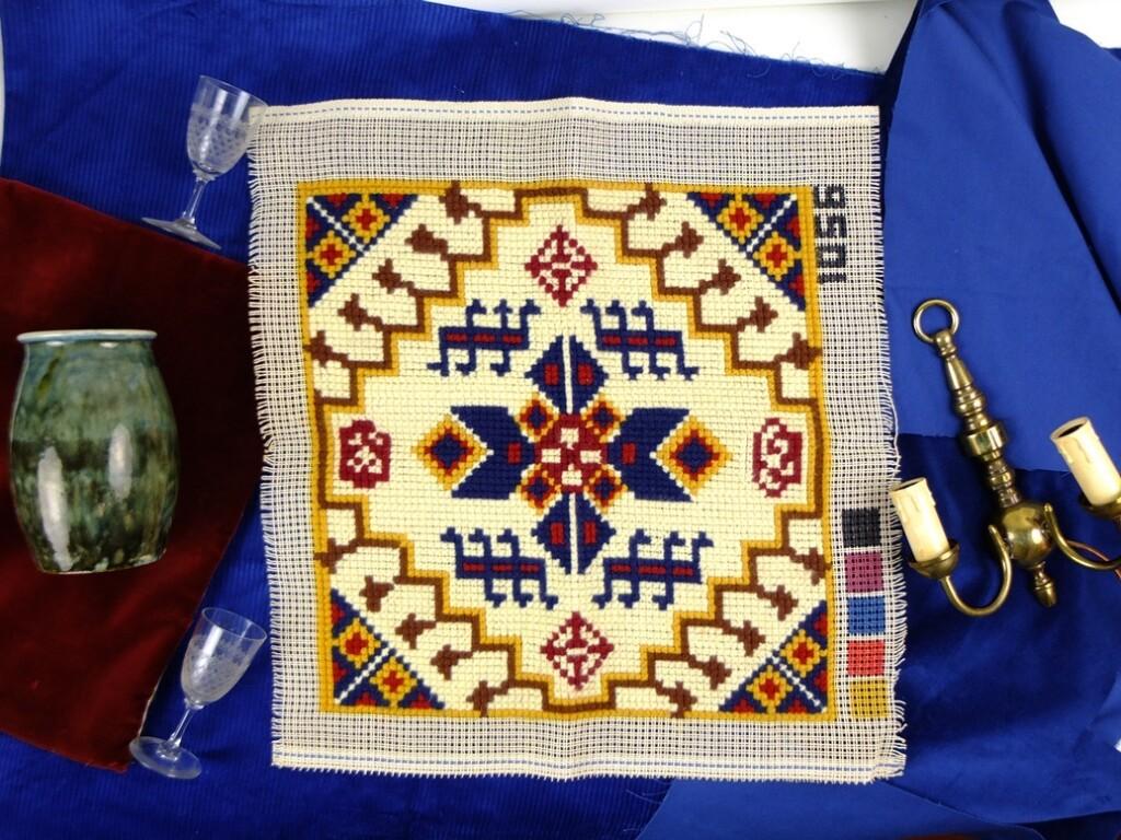 Klassiek borduurwerk op stramien