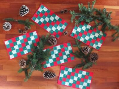 Patchwok placemats voor kerst
