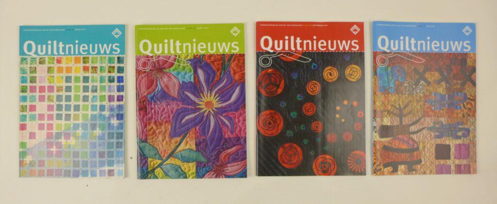 Vier tijdschriften Quiltniews