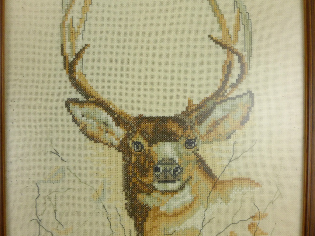 close up schilderij hert