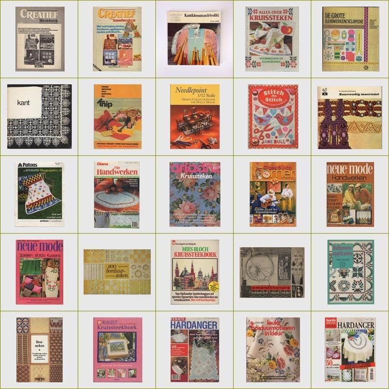 Collage tweedehands handwerkboeken