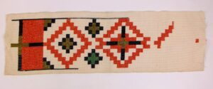 oud borduurwerk rand