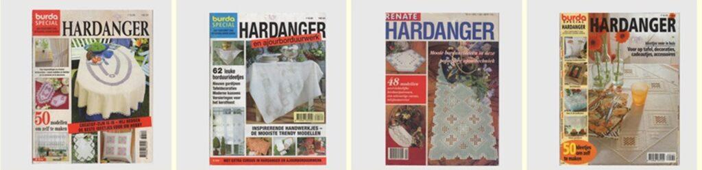 Collage vier tijdschriften Hardanger