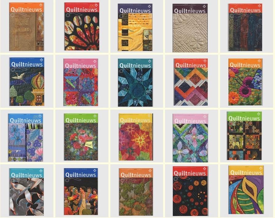 Twintig tijdschriften Quiltnieuws te koop