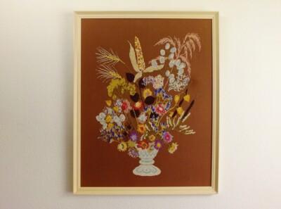Schilderij Droogbloemen ontwerp Mies Bloch