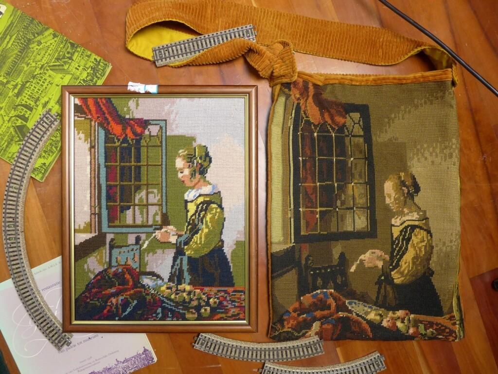 Tapisserie brieflezende vrouw