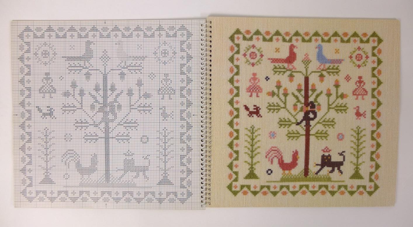 Borduurkalender Haandarbejdets Fremme 1982