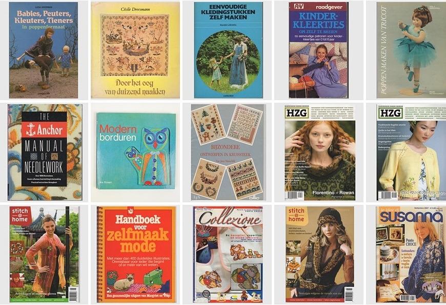 Collage 15 handwerkboeken