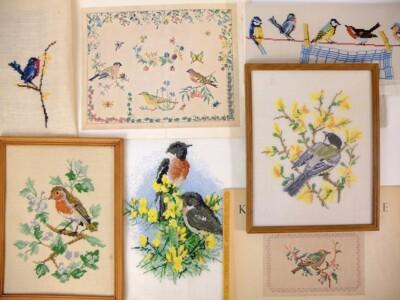 Geborduurde vogeltjes en oude patronen