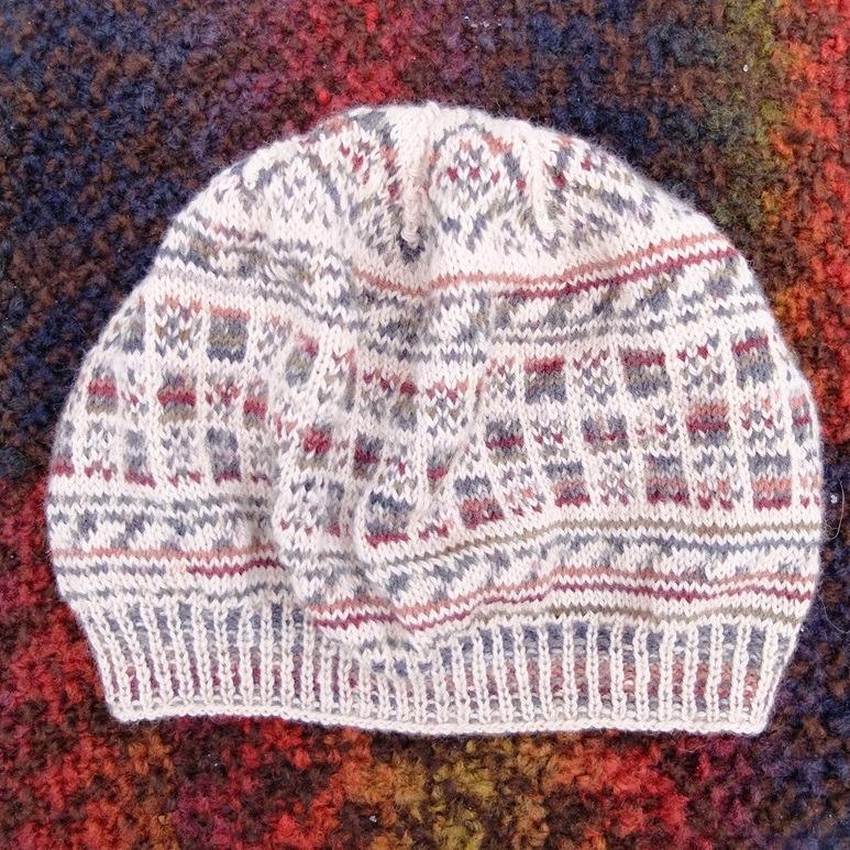 Handgebreide baret