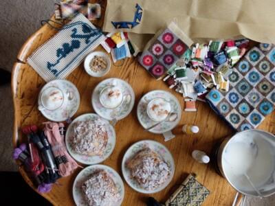 Handwerk op koffietafel