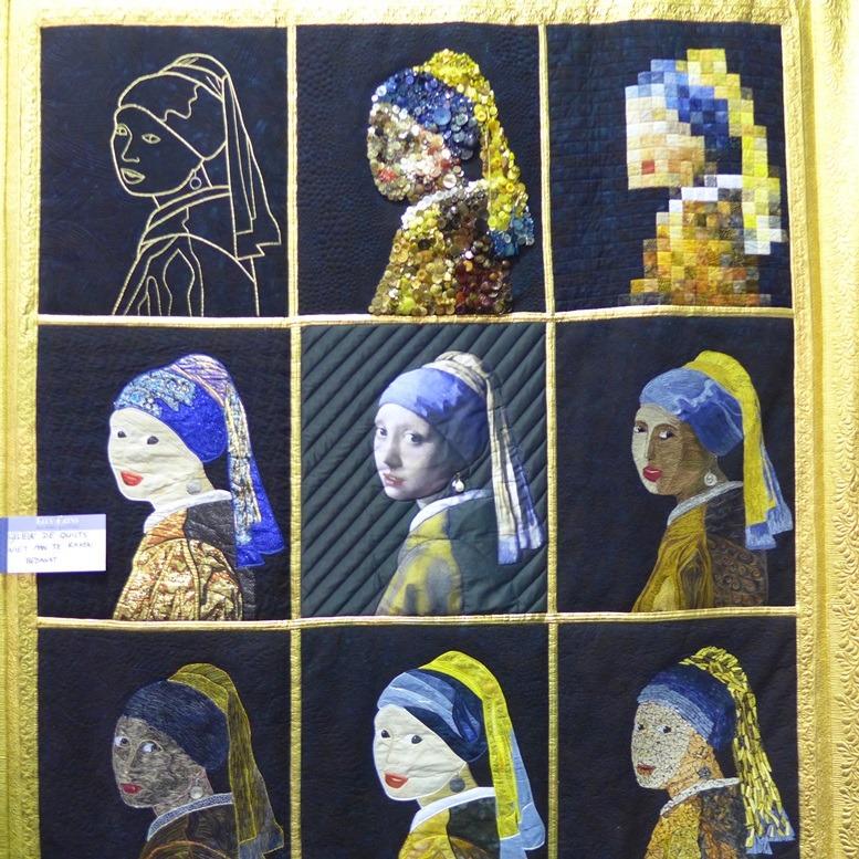Meisje met de parel quilt van Elly Prins