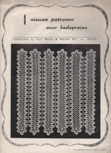 Oud Handwerktijdschrift patronen voor bedspreien