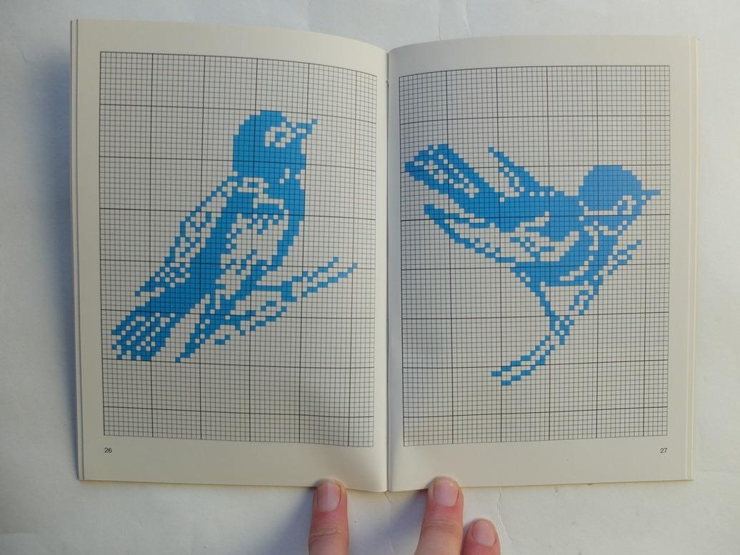 Pagina uit boekje Filet borduurwerk