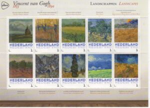 Postzegels van Gogh Landscapes