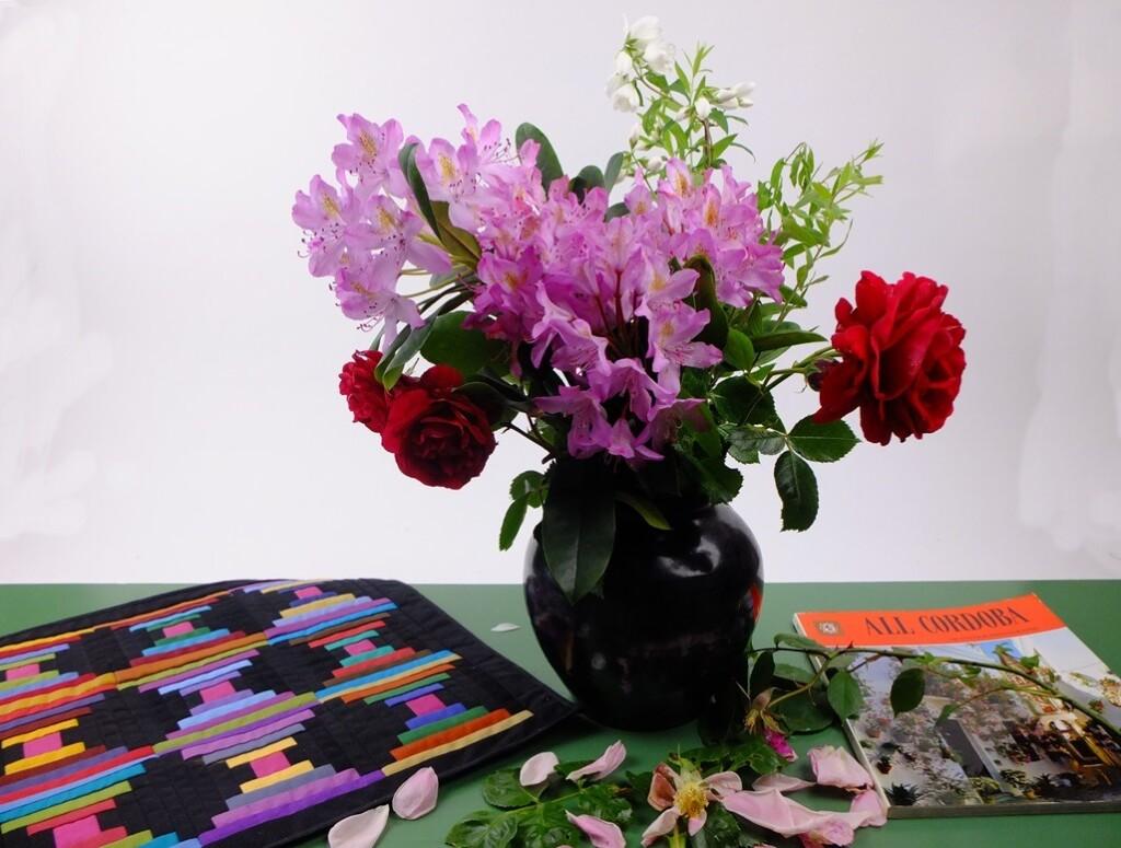 Quiltje met meibloemen
