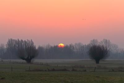 Zonsopgang in februari