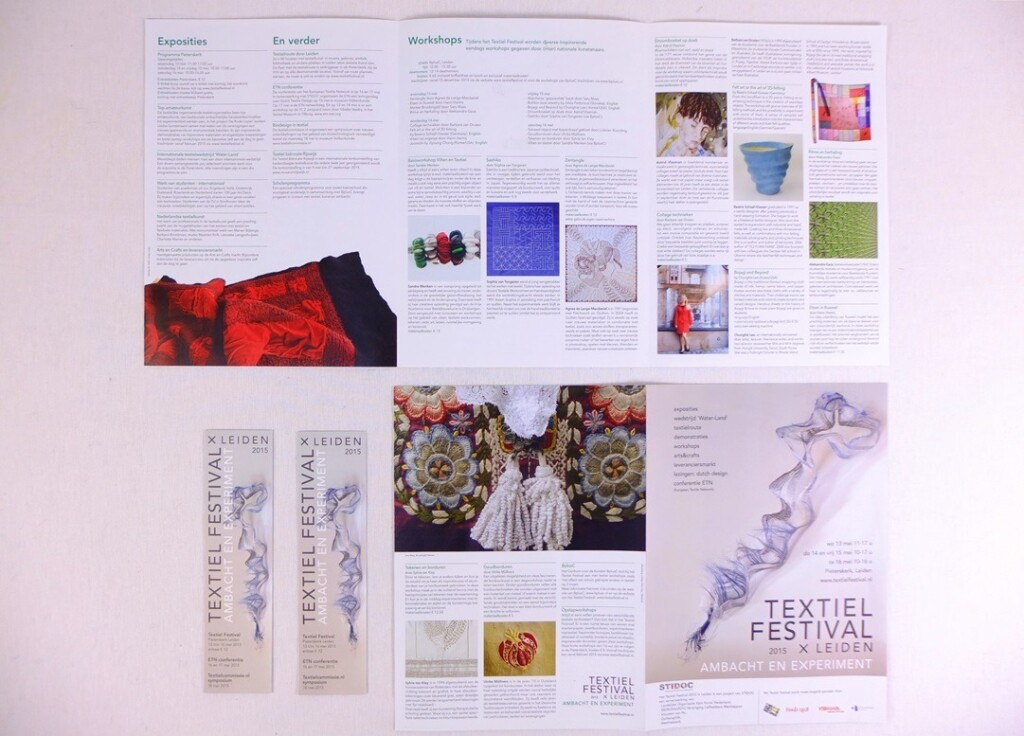 Folders Textiel Festival in Leiden