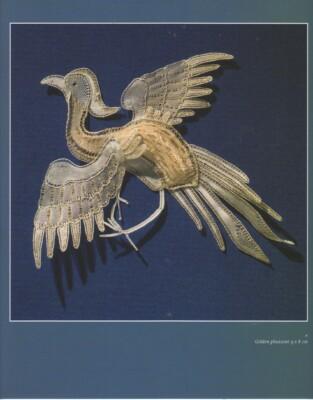 Golden pheasant in lace, by Yvonne Scheele-Kerkhof