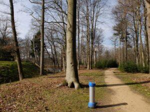 Praatpaal op landgoed Broekhuizen