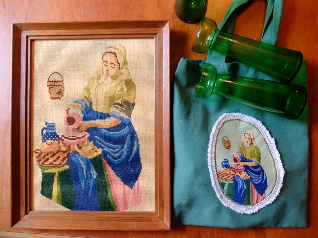 Tapisserie afbeeldingen melkmeisje