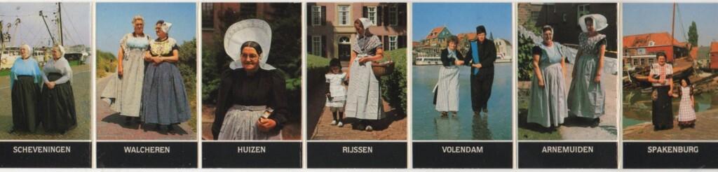 Toeristische plaatjes klederdrachten
