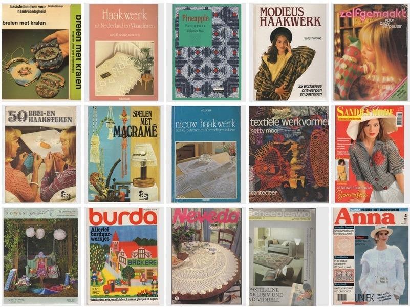 Vijftien handwerkboeken en tijdschriften