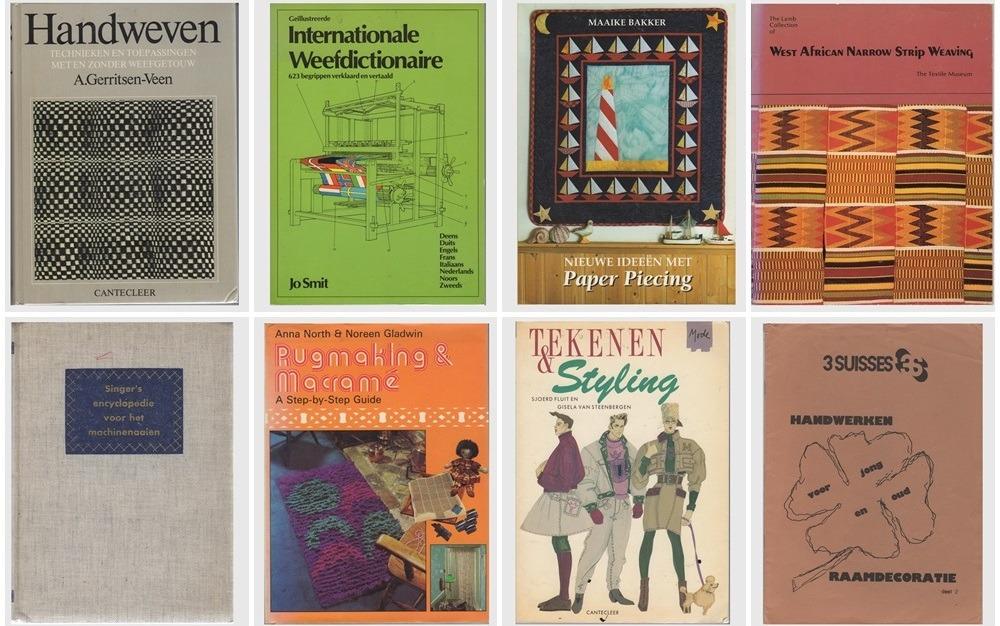Acht oude handwerkboeken