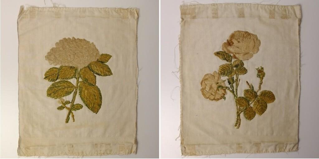 Antiek borduurwerk met gouddraad