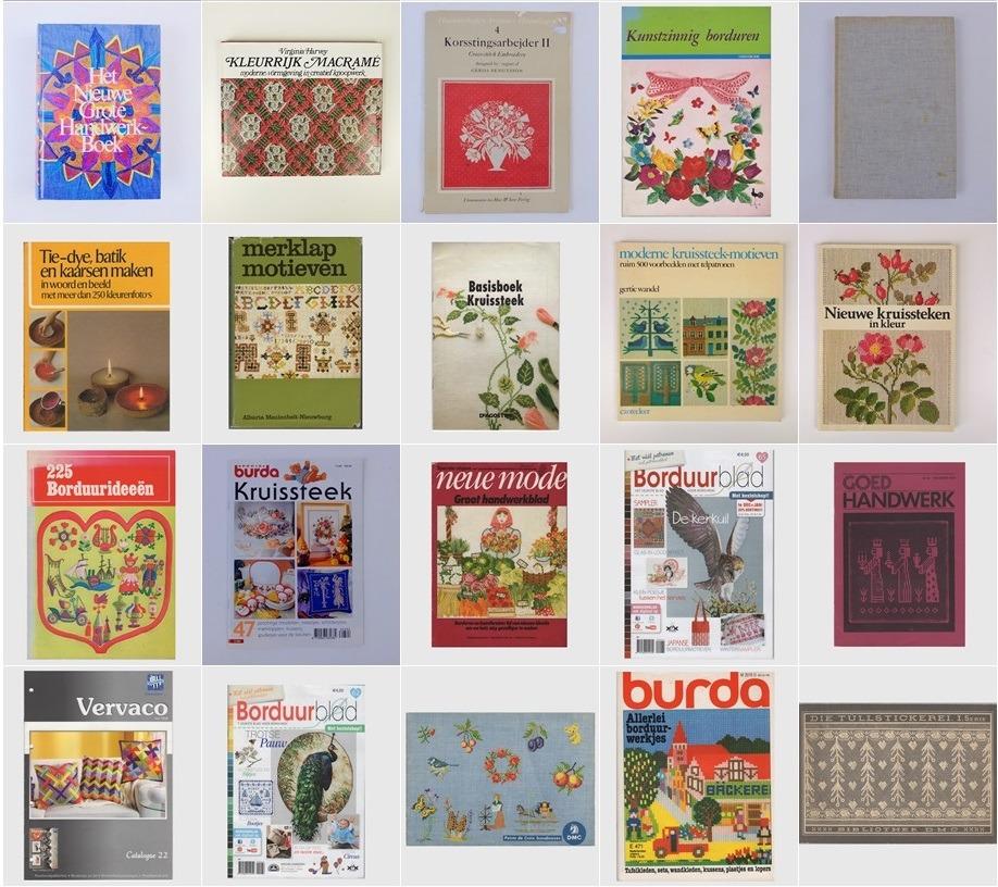 Collage 20 tweedehands handwerkboeken