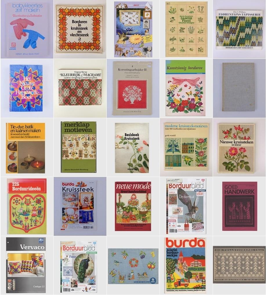 Collage 25 tweedehands handwerkboeken