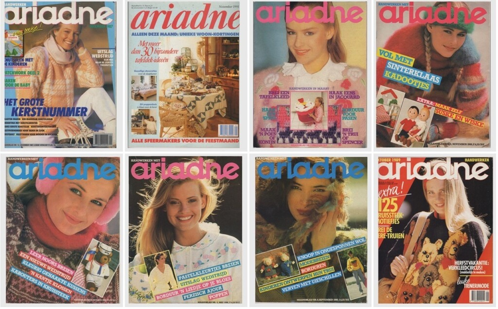 Collage Acht oude Ariadnes