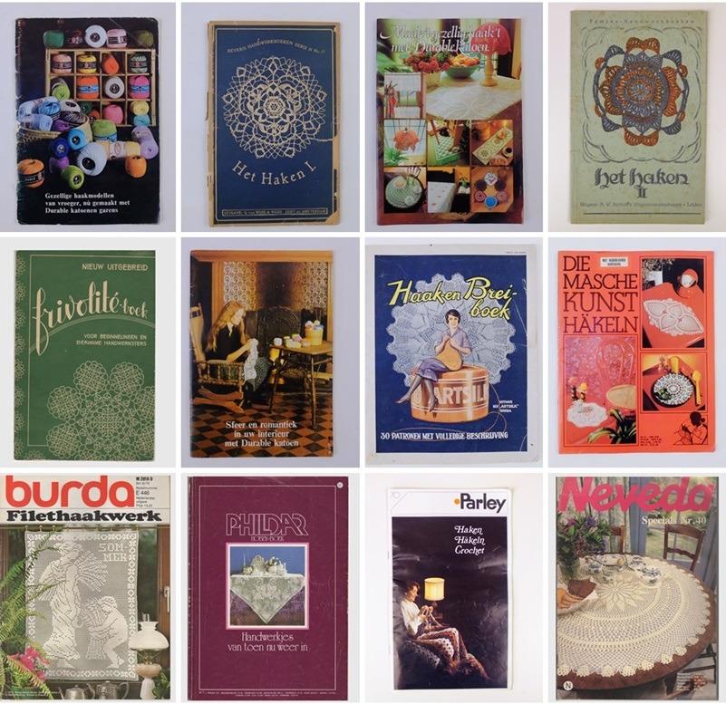 Collage oude Haakboekjes