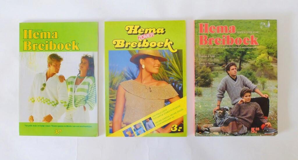 Drie Hema Breiboeken