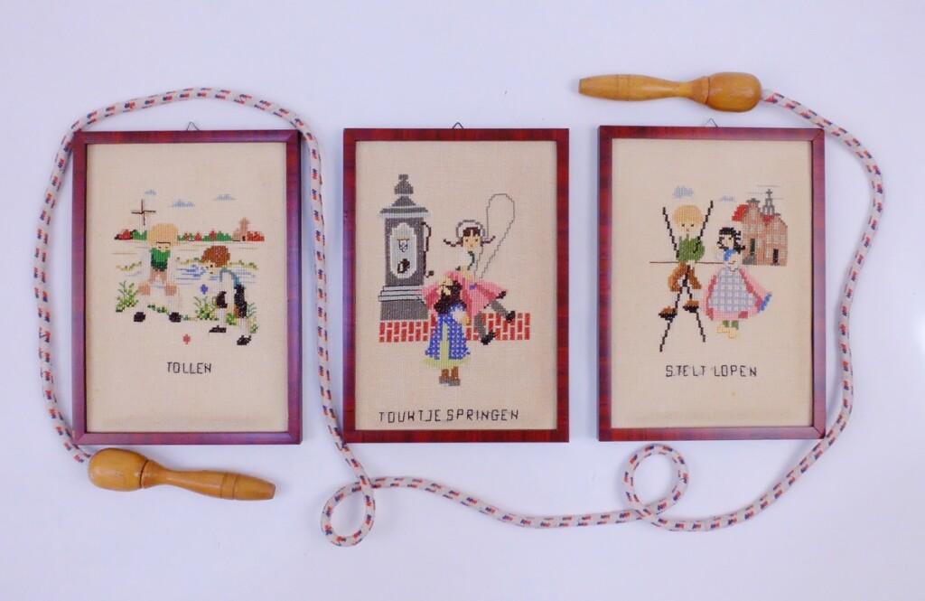 Drie tafereeltjes oud hollandse spelen