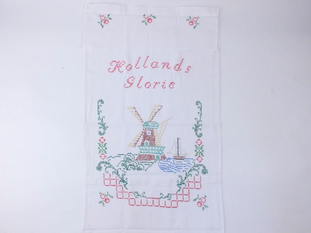 Molen op geborduurde handdoek Hollands Glorie