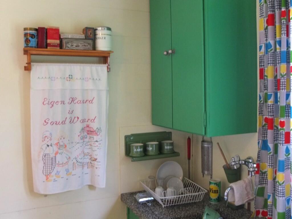 Handdoek in ouderwetse keuken